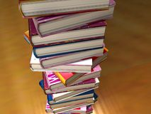 Books tower. A 3d illustration of a tower of books Royalty Free Stock Photo