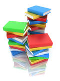 Books tower 3d Royalty Free Stock Image