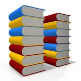 Books tower royalty free stock photography