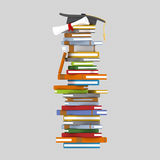 Books tower royalty free illustration