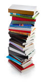 Books tower - clipping path Stock Photography