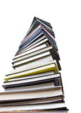 Books tower isolated Stock Image