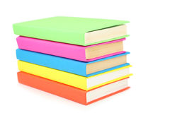 Books tower isolated on white. Stock Photo