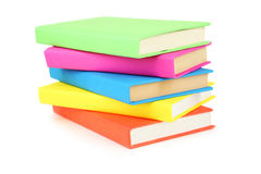Books tower isolated on white. Background Royalty Free Stock Photography