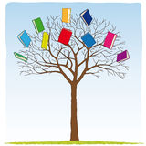 Books on the tree. Illustration of books on the tree Stock Photography