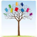 Books on the tree. Illustration of books on the tree Stock Illustration