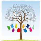 Books on the tree Stock Photography