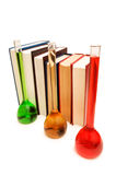 Books and tubes Stock Images