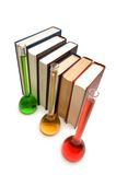 Books and tubes - shallow depth of field Royalty Free Stock Photography