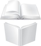 Books. Two open books. Front and back view Stock Illustration