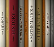 Books of various genres. Books of various literary genres. Eps 10 Royalty Free Stock Photography