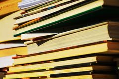 Books of various sizes, knowledge concept Stock Image