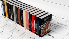 Books with various subjects Royalty Free Stock Photo