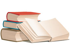 Books, vector Royalty Free Stock Image