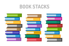 Books vector logo icons set. Sale background Stock Photo