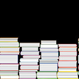 Books vector seamless texture vertically and horizontally. Bookshelf background. Stock Photos