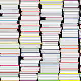 Books vector seamless texture vertically and horizontally. Bookshelf background. Royalty Free Stock Photography