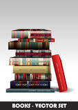Books vector set Stock Image