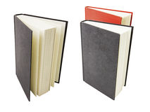 Books vertical hard cover education isolated collage Stock Images