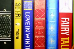 Books Wall Background Stock Images