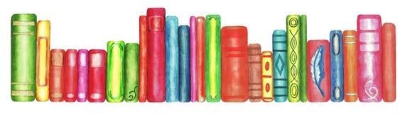 Free Books, Watercolor 9.1 Stock Image - 218720061