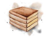 Watercolor vintage books
