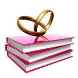Books about wedding and love Stock Image