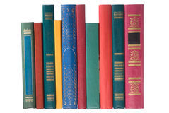 Books on white Royalty Free Stock Image