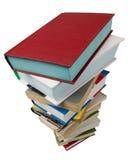 Books on white royalty free stock image