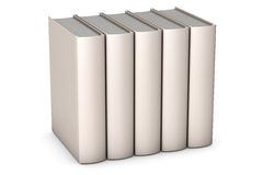 Books on White. Row of books isolated over a white background vector illustration