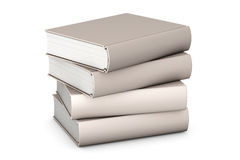 Books on White. Pile of books isolated over a white background stock illustration