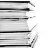 Books on white Stock Photography