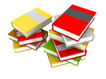 Books on a white background. Room for text vector illustration