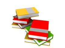 Books on a white background. Illustration royalty free illustration