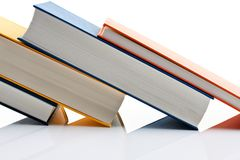 Books on white background Stock Images