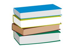 Books on white Background Royalty Free Stock Photos
