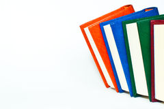 Books are on a white background Royalty Free Stock Images