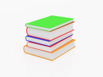 Books on a white background Stock Photo