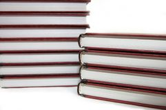 Books on a white background royalty free stock photo