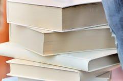 Books. White books on a pile stock photo