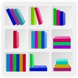 Books on white shelves Stock Photography