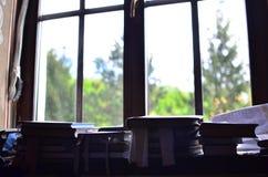 Books by window Stock Photo