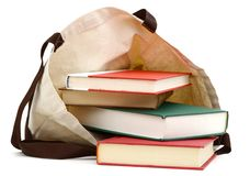 Books With Eco Bag Royalty Free Stock Photos