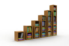 Books on a wooden shelf Royalty Free Stock Photos