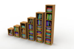 Books on a wooden shelf Royalty Free Stock Photo