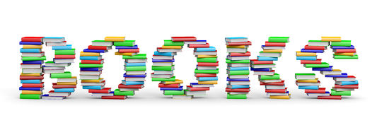 BOOKS word from books. Stock Photos