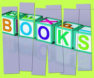 Books Word Shows Novels Non-Fiction And Reading Royalty Free Stock Photos