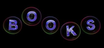 The books word in bubble stock illustration
