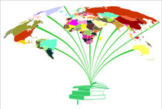 Books and worlds colors Royalty Free Stock Photos