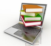 Books from your laptop royalty free illustration